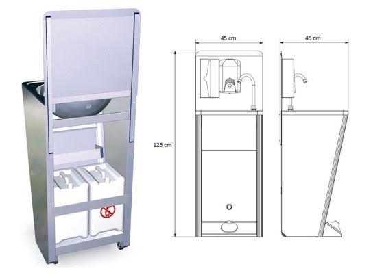 Washing unit with dispenser 2